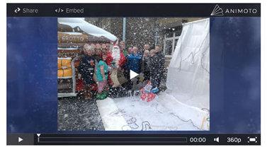 Santa Claus visits St Josephs 2014
