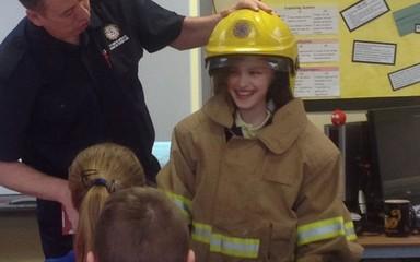 Year 5 meet Fireman Brian