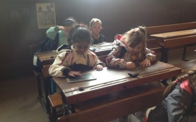 Doing the household chores at Beamish Musuem
