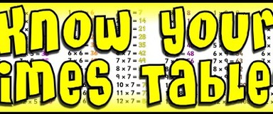 Year 3 Times Table Facts