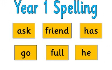 Year 1 Spellings: 11.3.16