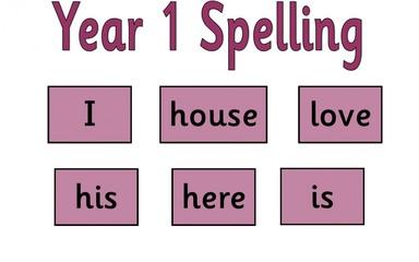 Year 1 Spellings: 18.3.16