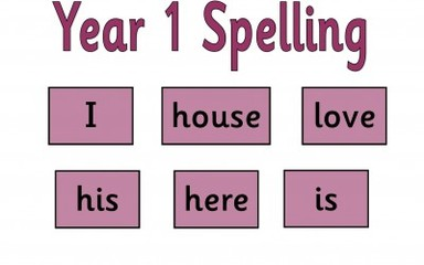 Year 1 Spellings: 18.3.16