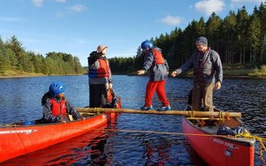 Raft Building at Hawhirst