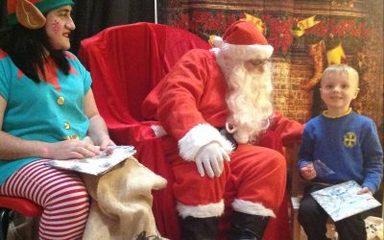 We met Santa Claus!