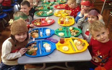 Reception Class Christmas Dinner!