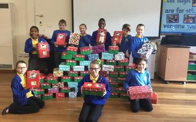 Operation Christmas Child – we sent 80 boxes!
