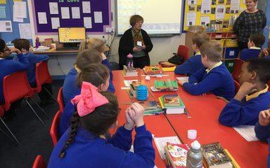 A visit from local author Sylvia Waugh