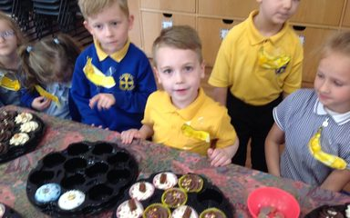 We went 'bananas' for yummy cakes!