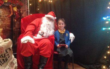 Santa Claus visits St Joseph's