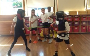 Mini fencing in year 4