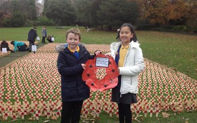 Remembrance Day at Saltwell Park