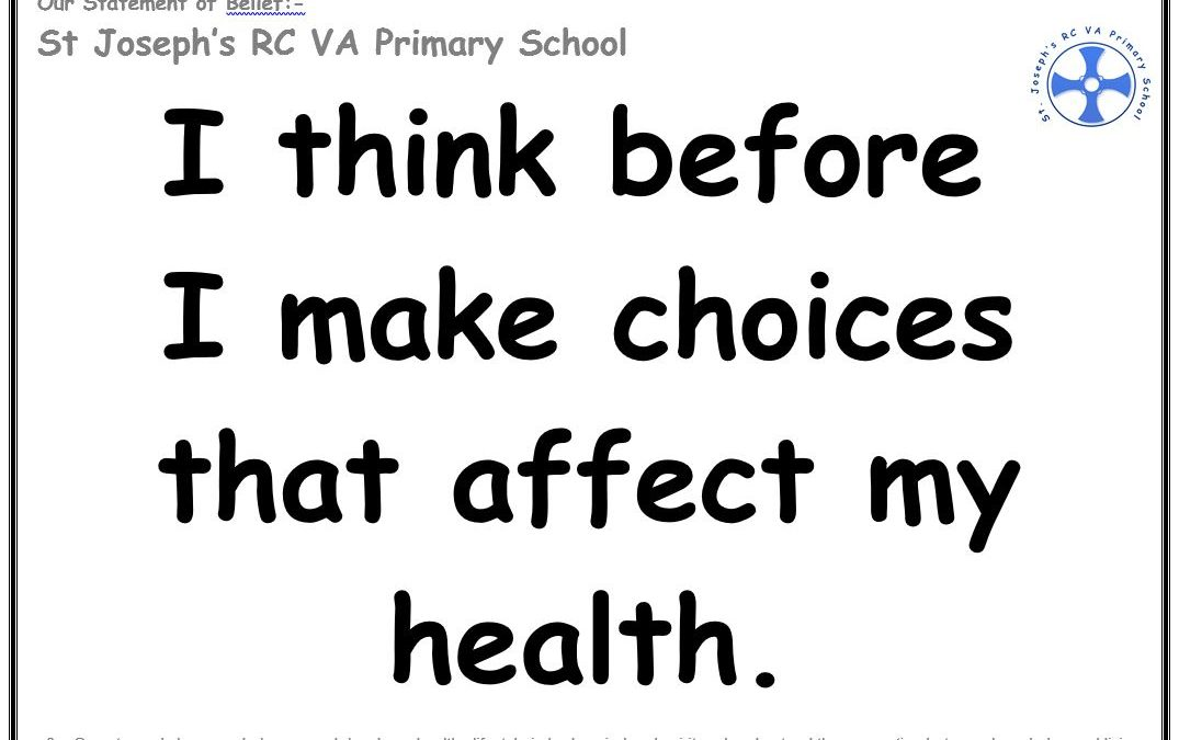 Wednesday 28th November: I think before I make choices that affect my health