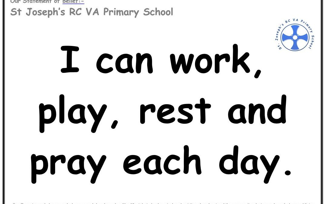 Wednesday 5th December: I can work, play, rest and pray every day