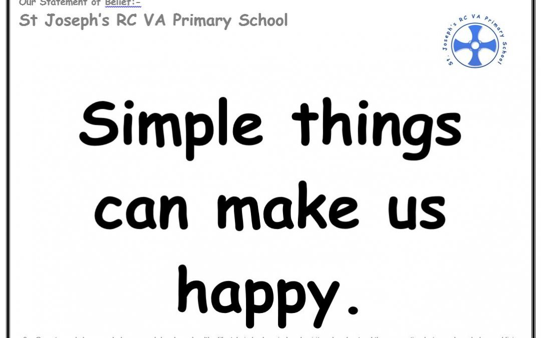 Wednesday 12th December: Simple things can make us happy