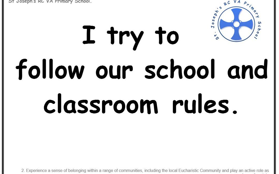 Wednesday 19th December 2018: I try to follow our school and classroom rules