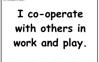 Wednesday 30th January: I cooperate with others in work and play