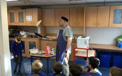 Chef Hattam at work with Year 3