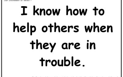 Wednesday 8th May 2019: I know how to help others when they are in trouble
