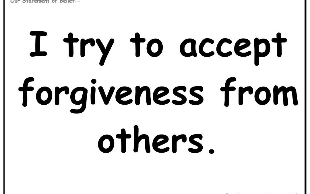 Wednesday 5th June 2019: I try to accept forgiveness from others