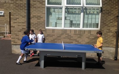 Our new table tennis tables