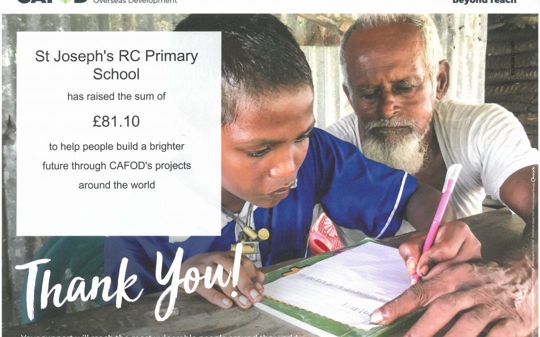 Thanks from CAFOD