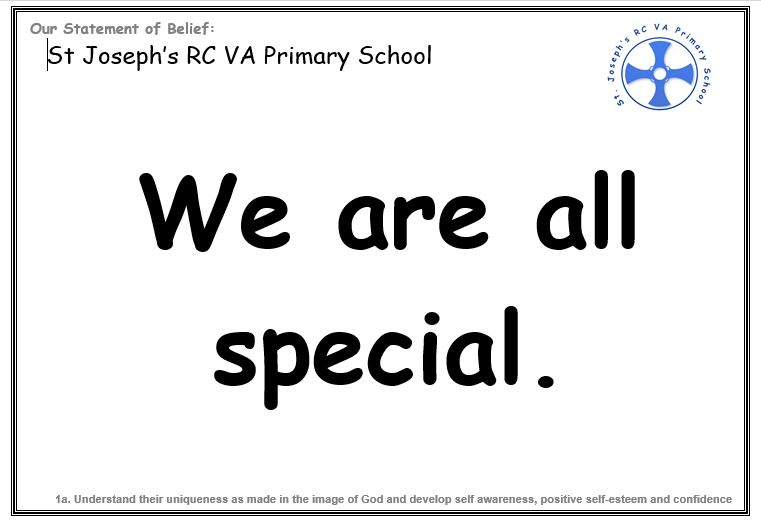 Wednesday 4th September: We are all special